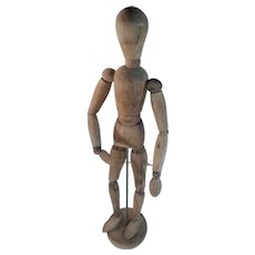 """Wood Articulated Artists Model Mannequin 12"""" with Base"""