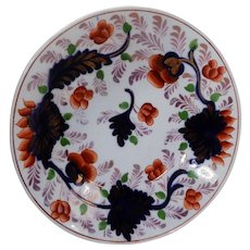 19th Century Gaudy Welsh Small Plate Grape Pattern