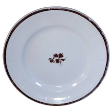 Anthony Shaw White Ironstone Copper Luster Tea Leaf Plate