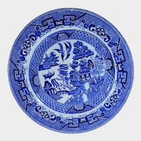 Old W. Ridgway of England Blue Willow Luncheon Plate