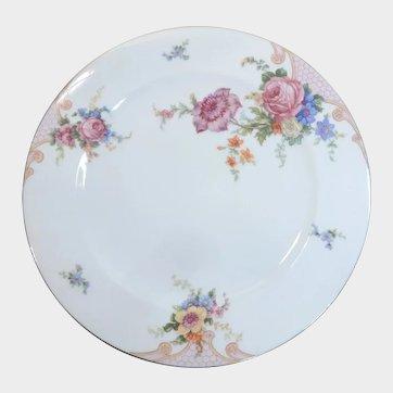 Epiag Czechoslovakia China Bridal Rose Dinner Plate