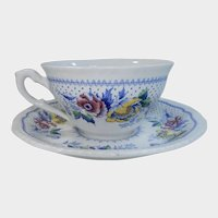 Ridgways Blue Multicolor Lynton Pattern Cup & Saucer