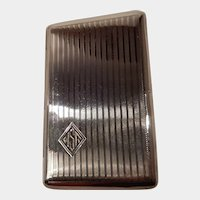 Sterling Silver NIVOIS Cigarette Case patented by the P. Lorillard Company