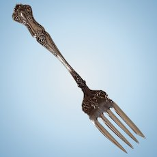Rogers Brothers Triple Silver Plate 19th Century Grape Pattern Serving/Meat Fork