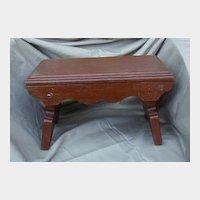 Early Brown Painted Wood Foot Stool