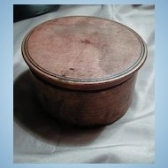Very Primitive Small Round Figured Maple Wood Box