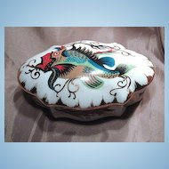 Very Unique Pate de Limoges Fish Decorated Dresser Box