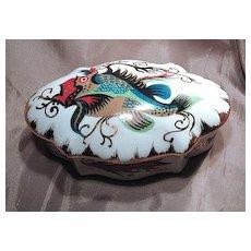Very Unique Pate de Limoges Fish Decorated Dresser Box