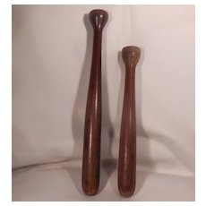 Two Hard to Find 19th Century Mixing Sticks or Muddlers