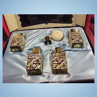 Boxed Set of Four Rose D'Or of Paris Perfumes by Cartiere