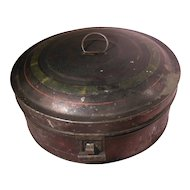 Early Tole Tin Spice Box with Stenciled Spice Tins and Grater