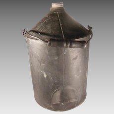 Vintage Black Bail Handle Oil Can Ohio