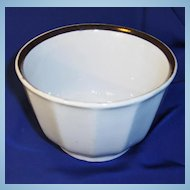 Copper Luster White Ironstone Waste Bowl