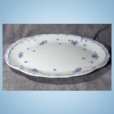 Beautiful Large English Blue Floral Platter Clare