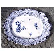 19th Century Ridgways Theodore Blue Transfer Ware Platter