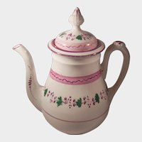 Early 19th Century English Pink Lustre or Luster Teapot