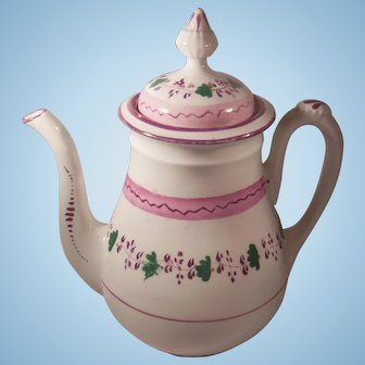 Early 19th Century English Pink Luster Teapot