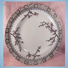 E. J. D. Bodley Brown Transferware Plate Thorn Pattern