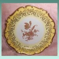 Jlmenau Graf Von Henneberg Gold and White Floral Plate Pattern M3214