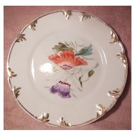 Hutschenreuther Small Decorative Purple and Orange Floral Plate
