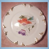 Hutschenreuther Small Decorative Purple and Orange Floral Plate
