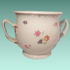 19th Century Chinese Export Bowl Hand Painted Flowers