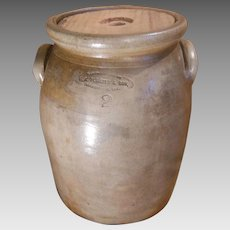 F. A. Plaisted & Son Gardiner Maine 2 Gallon Stoneware Crock