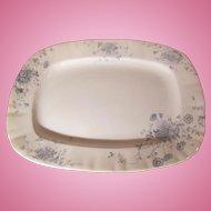 Blue Transferware Platter Daisy Pattern Whittaker, Heath & Co. Circa 1892