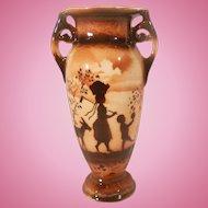 Small Czechoslovakia Erphila Art Pottery Vase Brown