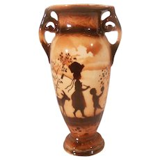 Small Czechoslovakia Erphila Art Pottery Vase Brown