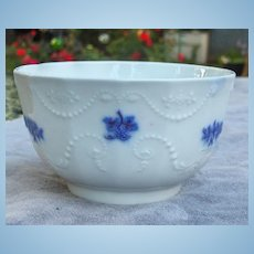 19th Century Grandmother's China or Chelsea Porcelain Grape Bowl
