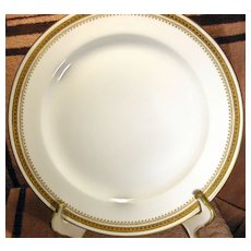Theodore Haviland Limoges Gold and White Plate Circa 1903