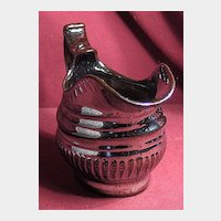 Early Silver Lustre Luster Creamer Circa Mid 1800's