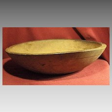 Early Small Round Wood Bowl