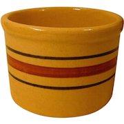 Vintage Robinson Ransbottom RRP Roseville Ohio Striped Yelloware  Butter Crock