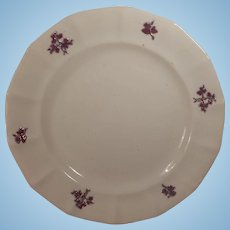 Scarce James Edwards Porcelaine a la Perlè Chelsea Sprig Plate
