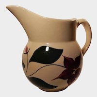 Watt Pottery 5 Petal Starflower Pattern Pitcher #15