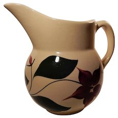 Watt Pottery 5 Petal Starflower Pattern Pitcher #15