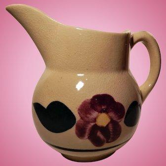 Watt Pottery Rio Rose Pattern Pitcher