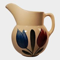 Watt Pottery Tulip Pattern Pitcher #16