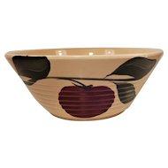 Watt Pottery Apple Pattern Ribbed Mixing Bowl #601 Three Leaves
