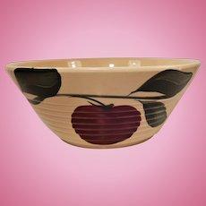 Watt Pottery Apple Pattern Ribbed Mixing Bowl #601