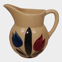 Watt Pottery Tulip Pattern Pitcher #62