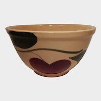 Watt Pottery Apple Pattern Mixing Bowl #6 Two Leaves