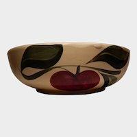 Watt Pottery Advertising Apple Pattern Baker #96 Three Leaves Rock Rapids Creamery