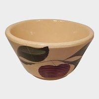 Watt Pottery Apple Pattern Ribbed Mixing Bowl #5 Three Leaves