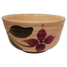 Watt Pottery Starflower Pattern Ribbed Mixing Bowl #4