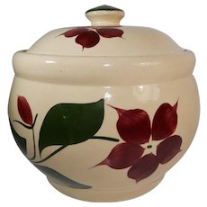 Watt Pottery Starflower Pattern Cookie Jar #21 Five Petal