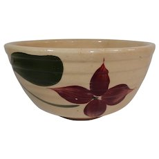 Watt Pottery Starflower Ribbed Mixing Bowl #05