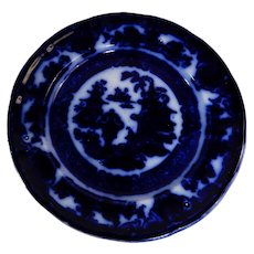 Flow Blue Plate The Temple Pattern by Podmore Walker